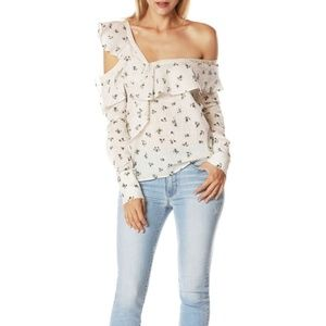 NWT PAIGE Marlow Cold Shoulder Top